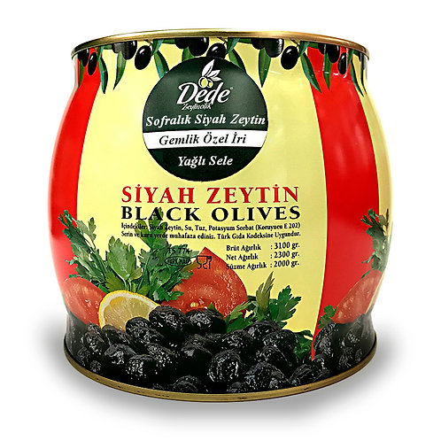 Gemlik Sofralık Siyah Zeytin (Özel İri) 2kg