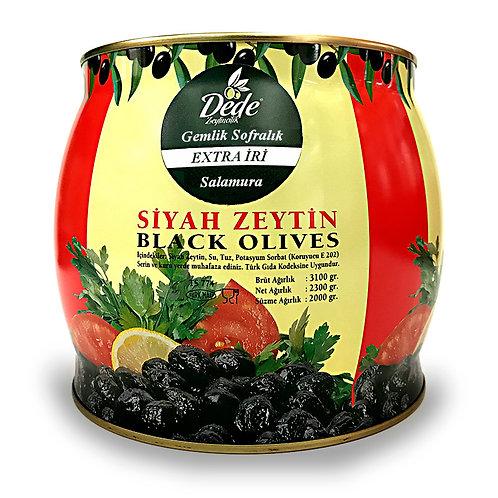 Gemlik Sofralık Salamura (Extra İri) Siyah Zeytin 2kg