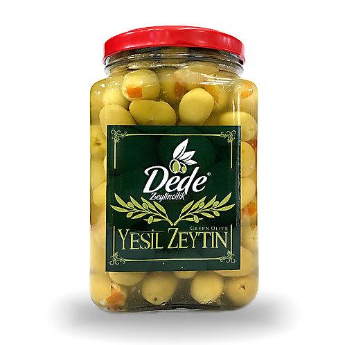 Portakallı Yeşil Zeytin (Cam Kavanoz) 1kg