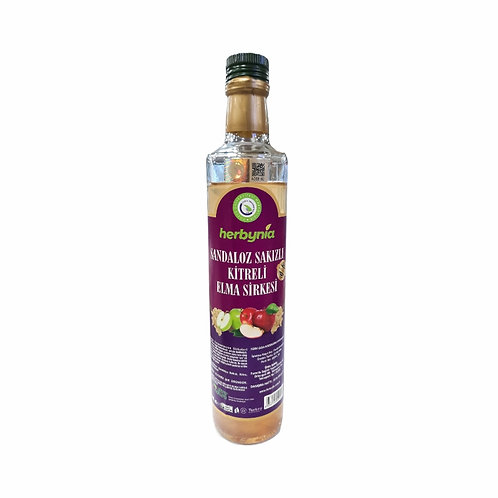 Herbynia Sandaloz Sakızlı Kitreli Elma Sirkesi 500 ml