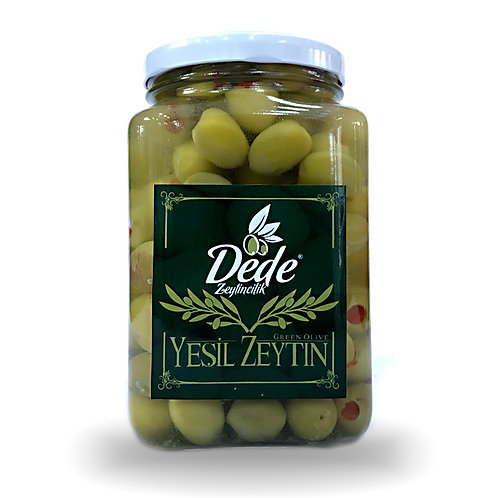 Biberli Yeşil Zeytin (cam Kavanoz) 1kg