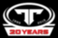 ThumperTalk 20 year Logo Sticker - White