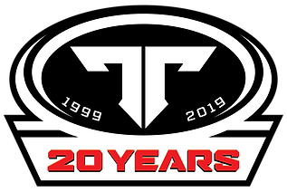 ThumperTalk 20 year Logo Sticker - White