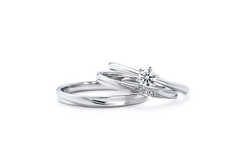 1122夫婦夫婦日本鉑金婚戒 IFE004 |いい夫婦 ブライダル - 1122 iifuufu bridal