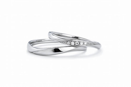Stella - Silver 925 couple ring