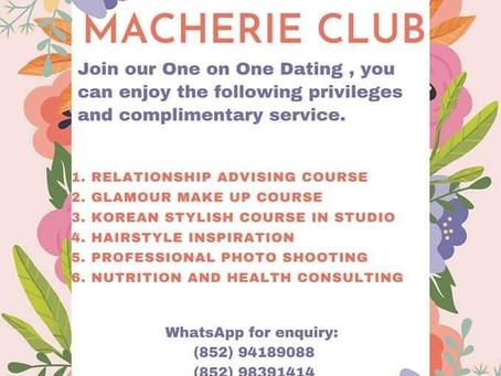 Speed dating: Macherie Club 配套服務