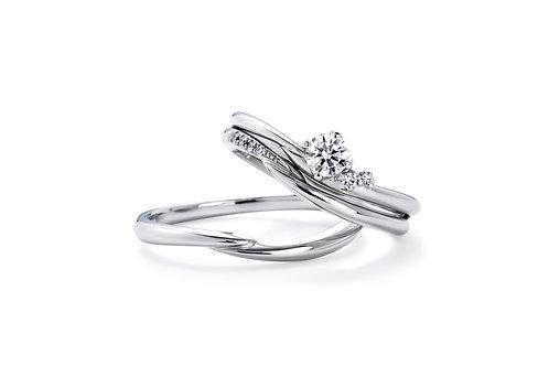 エンゲージリングIFE013 |いい夫婦 ブライダル - 1122 iifuufu bridal  PT900  0.15ct