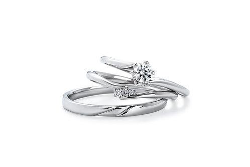 エンゲージリングIFE012 |いい夫婦 ブライダル - 1122 iifuufu bridal  PT900  0.15ct