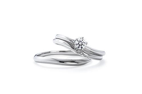 エンゲージリングIFE010 |いい夫婦 ブライダル - 1122 iifuufu bridal  PT900  0.15ct