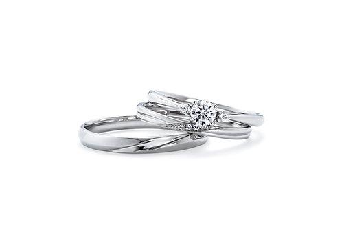 エンゲージリングIFE007 |いい夫婦 ブライダル - 1122 iifuufu bridal  PT900  0.15ct
