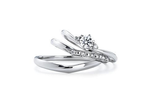 エンゲージリングIFE008 |いい夫婦 ブライダル - 1122 iifuufu bridal  PT900  0.15ct