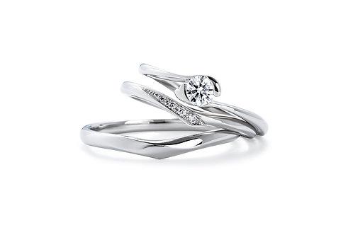 エンゲージリングIFE014 |いい夫婦 ブライダル - 1122 iifuufu bridal  PT900  0.15ct