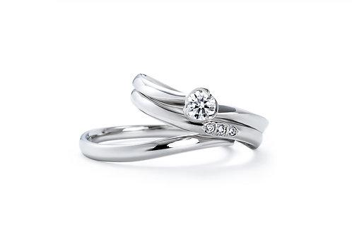 エンゲージリングIFE005 |いい夫婦 ブライダル - 1122 iifuufu bridal