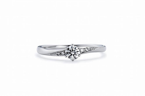 GIA 0.7ct Diamond Ring F IF