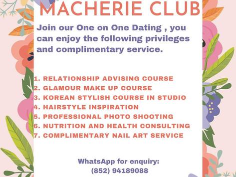 【Speed dating】參加Macherie Club 嘅單對單約會,可免費享用以下配套服務