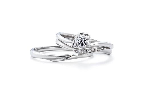 エンゲージリングIFE011 |いい夫婦 ブライダル - 1122 iifuufu bridal  PT900  0.15ct