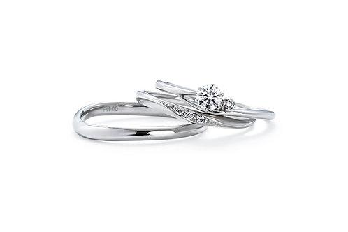 エンゲージリングIFE015 |いい夫婦 ブライダル - 1122 iifuufu bridal  PT900  0.15ct
