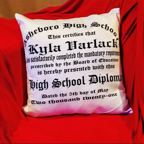 Graduation Diploma Pillow