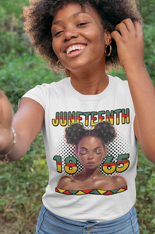 Juneteenth Afro Lady 1865