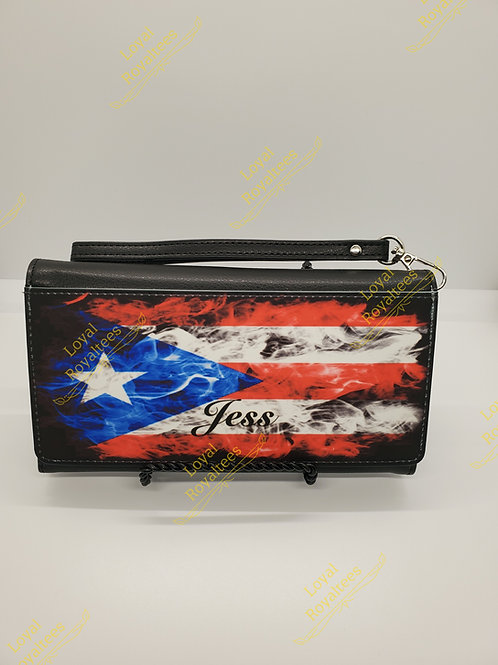 Puerto Rico Flag Clutch Wallet