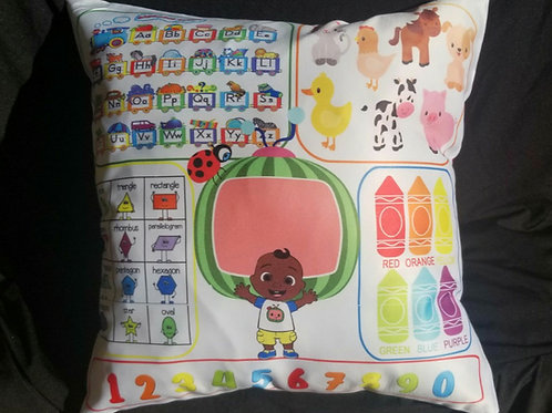 Coco Melanin Learning  Pillow