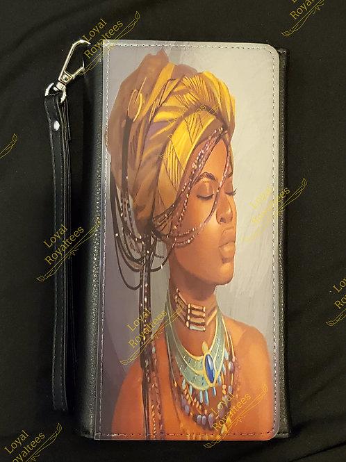 African Braided  Queen Clutch Wallet