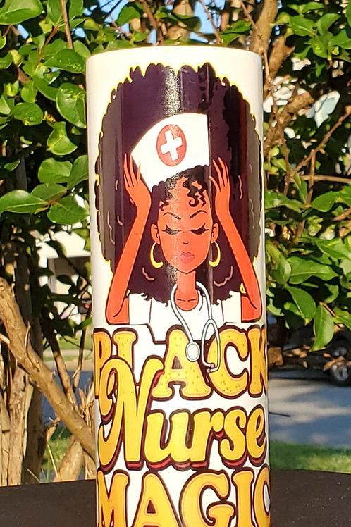 Black Nurse Magic Tumbler