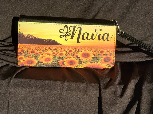 Sunflower Clutch Wallet
