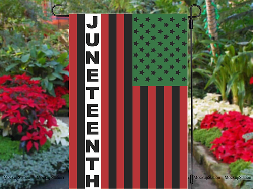 Juneteenth Garden Flag