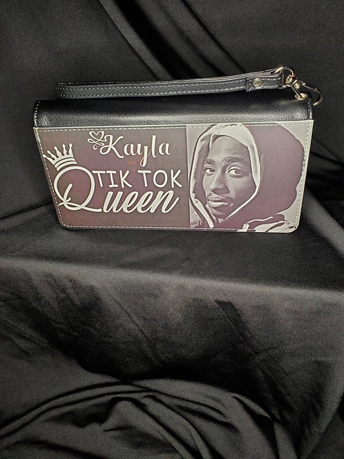 Tik Tok Queen/2pac Clutch Wallet