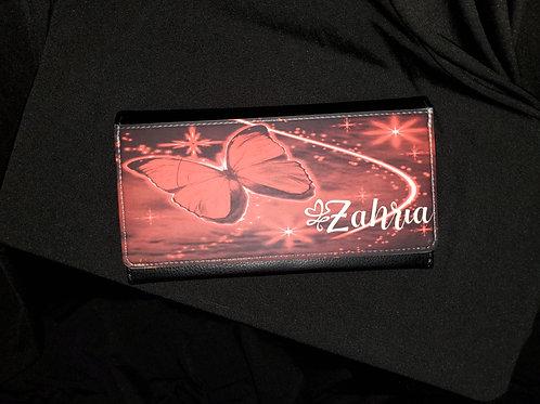 Red Butterfly Clutch Wallet