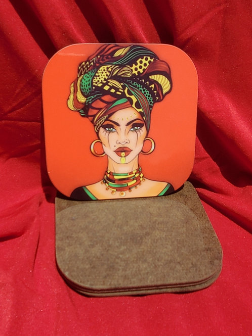 Nubian 4 Piece Coaster Set