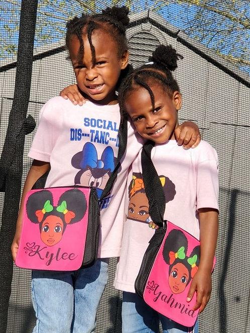 Afro Girl Mini Messenger Bag