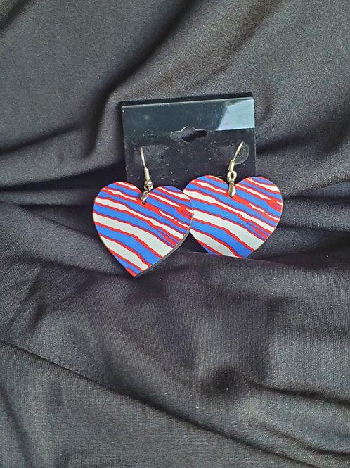 Zubaz Heart Earrings