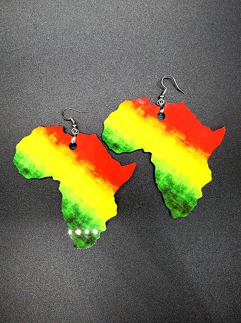 Ice Gold Green Africa Earrings