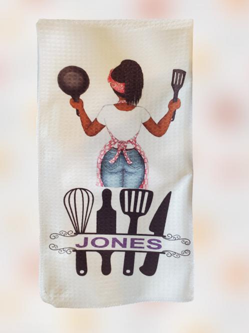 Personalized Waffle Towel