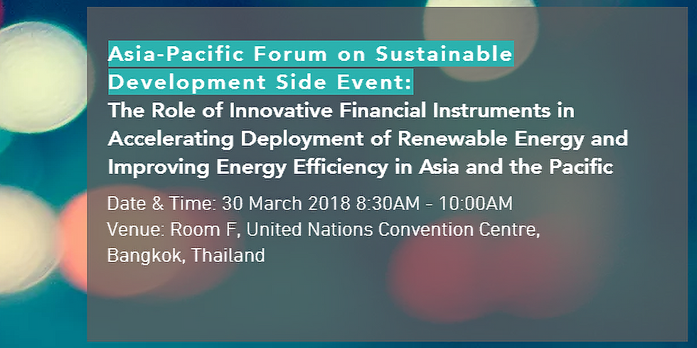 The Role of Innovative Financial Instruments in Accelerating Renewable Energy Deployment and Improving Energy Efficiency