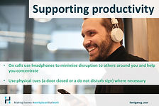 Supporting Productivity