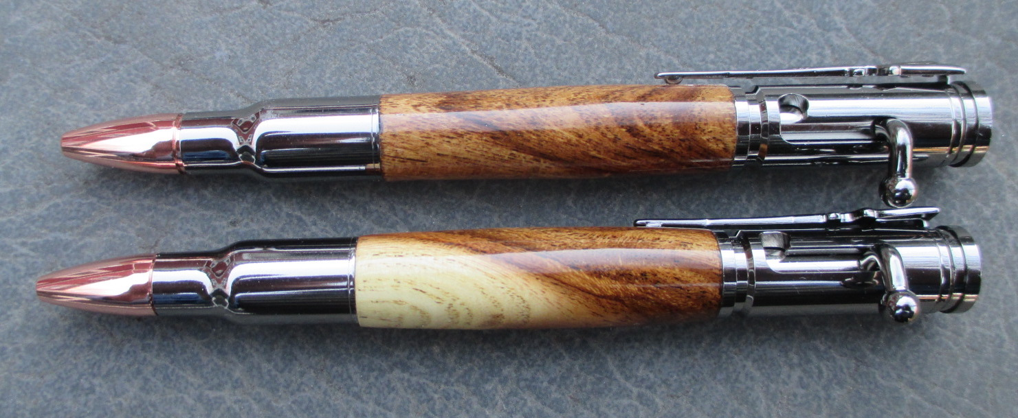 Bolt Action Spalted Oak Pens
