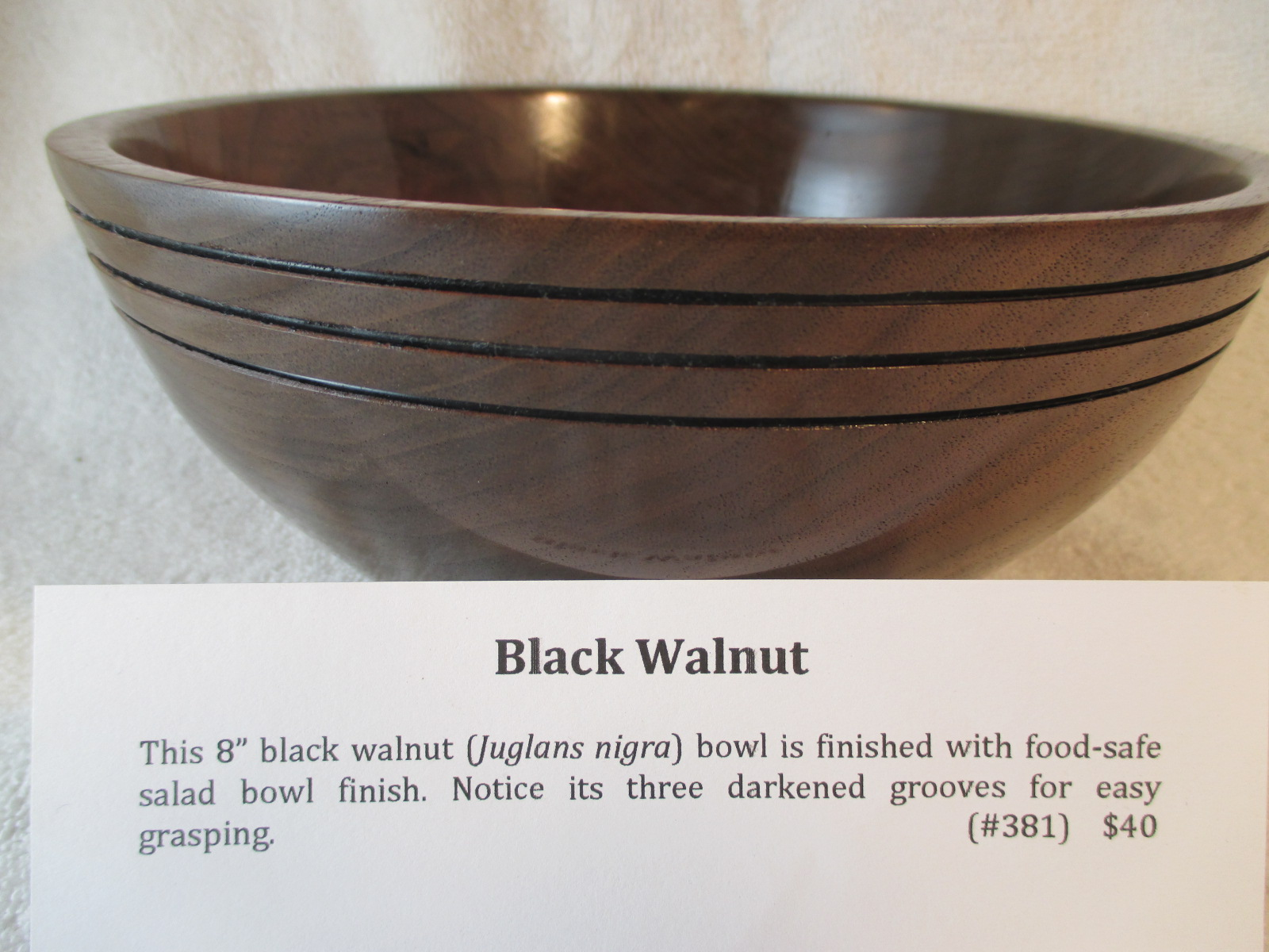 "8"" Black Walnut Bowl"