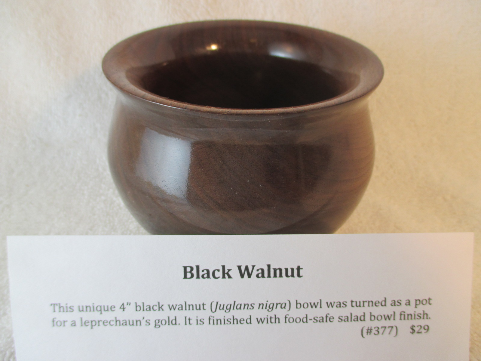 "4"" Black Walnut Bowl"