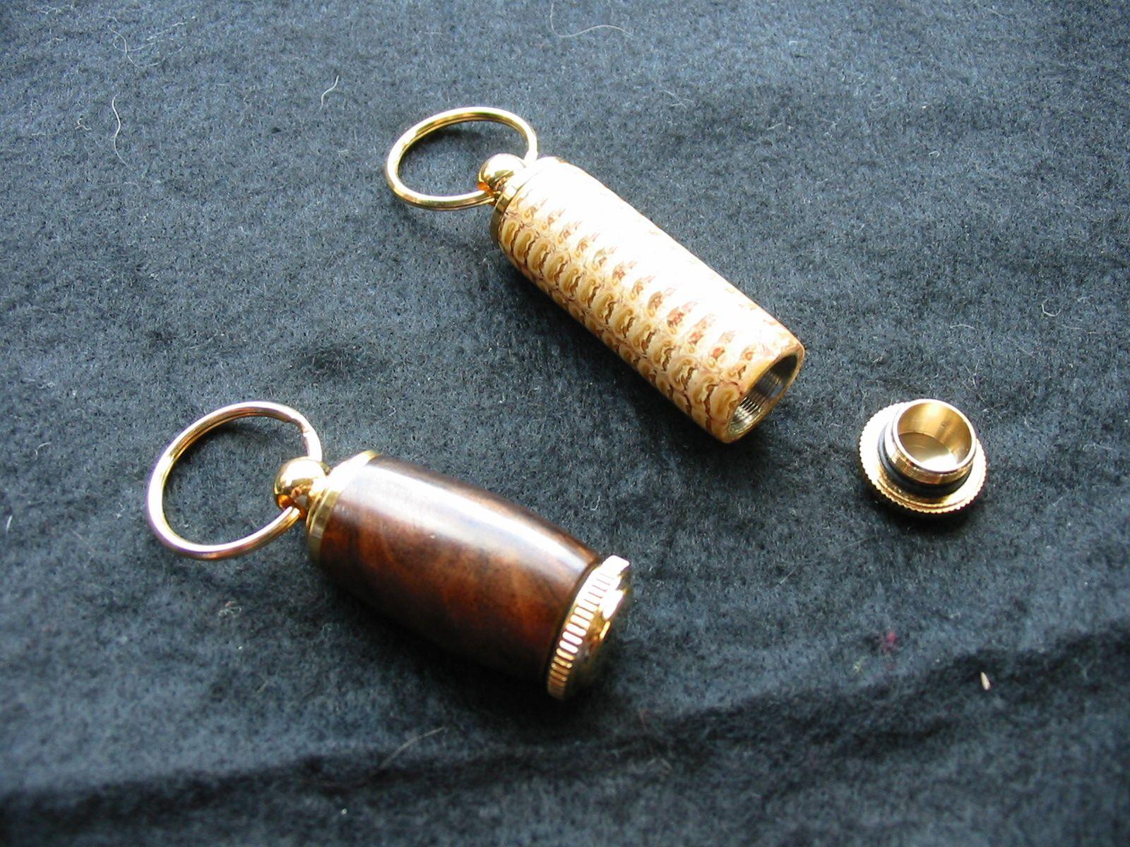 Cob and Walnut Pill Holders