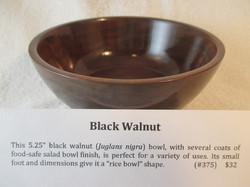 """5.25"""" Black Walnut"""