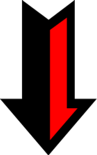Black and Red Down Arrow