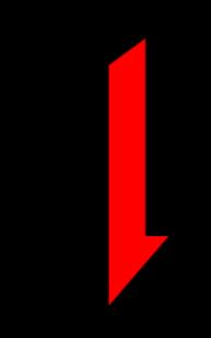 Negro y rojo de flecha abajo