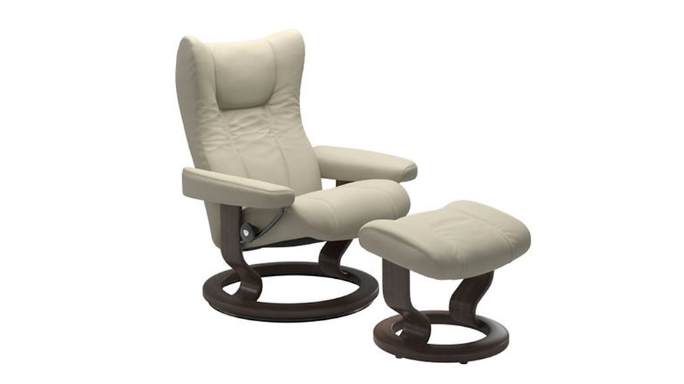 Wing - Stressless Recliner, Chair and Ottoman