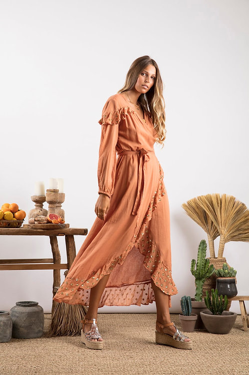 Long Dress Ines Cinnamon
