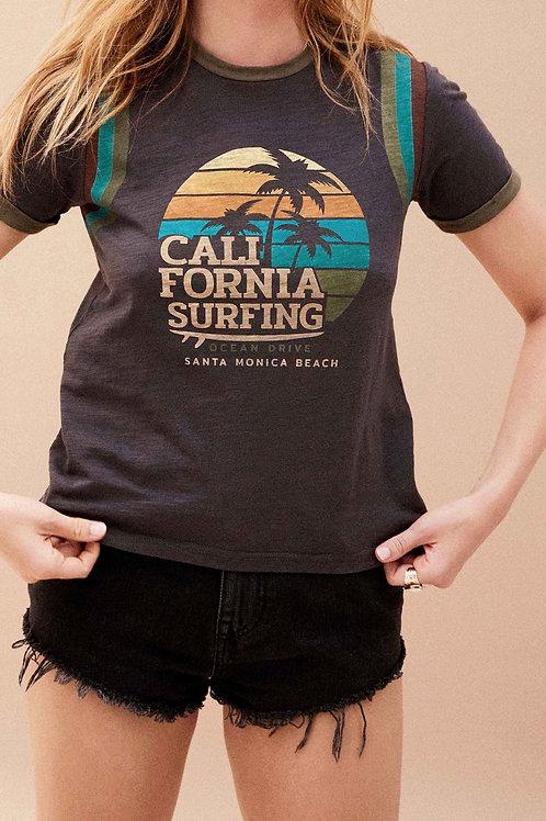 TEE SHIRT SURFING BLACK