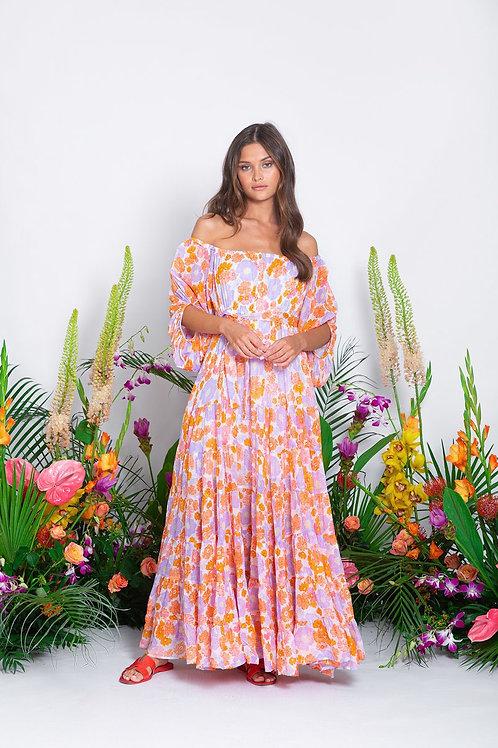 SALOME LONG DRESS FLOWER