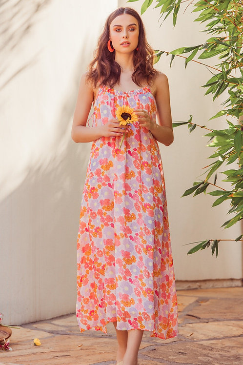 ELEONORA  FLOWERS LONG DRESS
